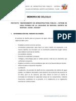 2.-Memoria de Calculo