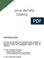Criterios de Falla Estática (fatiga)