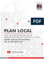 Plan Para La Consolidación de La Reforma Procesal Penal-DJ Apurimac