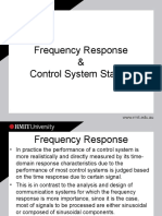 Frequency Response and Control Stability