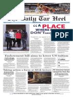 The Daily Tar Heel Jan. 19, 2016