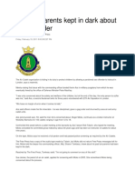 18 Feb 2011 - Sex Offender at Cadets - Parents Not Told