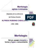 Morfología Conceptos  preliminares
