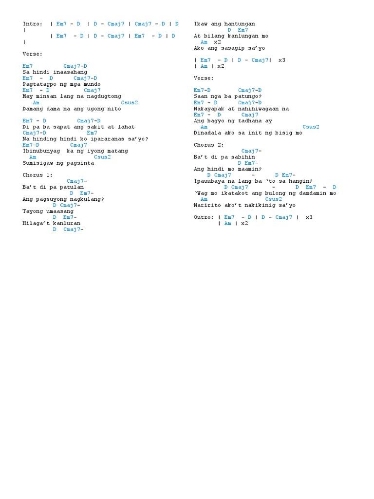 Pasko na naman guitar chords images guitar chords examples tadhana simple guitar chords choice image guitar chords examples tadhana chords fatherlandz choice image fatherlandz images hexwebz Gallery