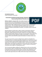 Concerned over Medical Cannabis Shortage in Maryland, White Paper Issued Recommending Additional Cultivation Licenses