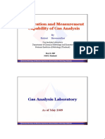 Calibration and Measurement Capability of Gas Analysis