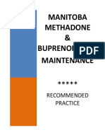 CPSM Manitoba Methadone & Buprenorphine Maintenance - Recommended Practice