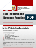 LGU Taxation and Revenue Practices October 2015