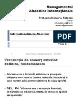 Internationalizarea Afacerilor