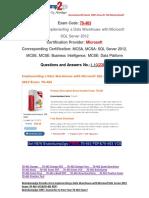 [PDF&VCE]Braindump2go 70-463 Dumps 1-10