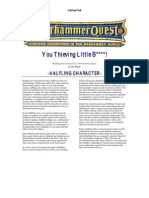 Warhammer Quest Characters] Halfling Thief