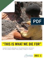 Amnesty International report on cobalt