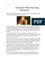 Points to Remember While Practicing Pranayama