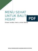 Booklet Resep Makanan Balita