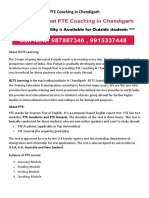 PTE Coaching in Chandigarh