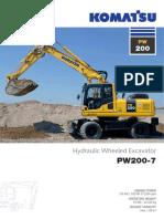 Komatsu PW200-7 Wheeled.excavator