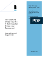 Innovation and Entrepreneurship- A Model Based on Entrepreneur Development