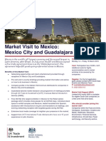 UKTI Market Visit to Mexico March 2016