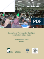 Separation of Powers under the Afghan Constitution a Case Study