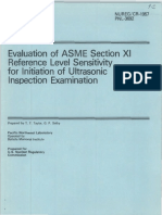 Evaluation of ASME Section XI Reference Level Sensitivity for Initiation of Ultrasonic Inspection Examination.pdf
