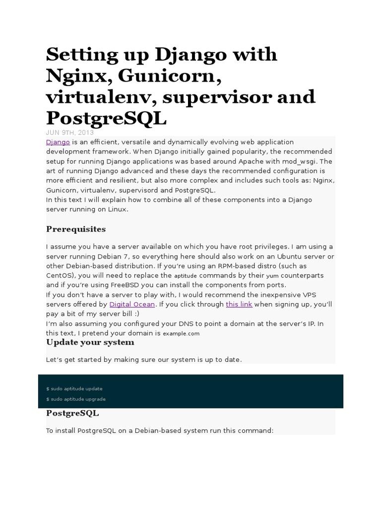Setting Up Django With Nginx | Web Application | Python (Programming