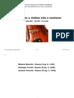 Tre Sonate a violino solo e continuo