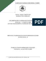 Soal OFI I 2009 Farmasetika
