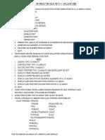 Practicals List (XII)