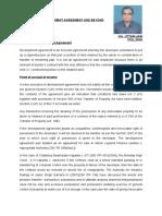 Taxation of Development Agreement