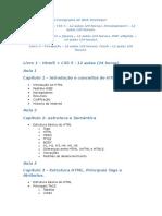 Cronograma de Web Developer