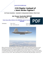 Why F-22 Raptor Instead of F-35 JSF