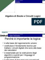 Algebra Boole Circuiti Logici