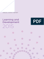CIPD L&D Annual Survey Report 2015