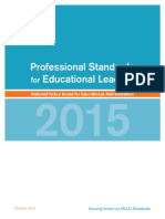 Professional Standards for Educationa LLeaders 2015