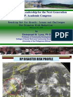 12 Issues and Challenges for Disaster Risk Reduction - Dr. Emmanuel M. Luna - Reaching Out for Breath