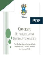 Aula 9 - Concreto - Lançamento, Cura e Controle
