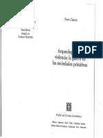 CLASTRES, P. Arqueología de La Violencia