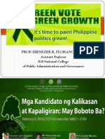 14 Green Vote Green Growth - Prof Ebinezer Florano