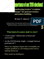 14 the Crucial Importance of Elections by Jose v Abueva Part 1