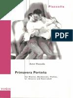 Piazzolla - Primavera Portena (Piano, Bandoneon, Violin, Guitarra, Contrabajo)