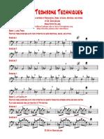 Jazz Trombone Routine