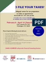 Tax Clinic Flyer-English