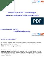 HFM Calculating RoA