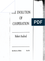 Axelrod(81) the Evolution of Cooperation