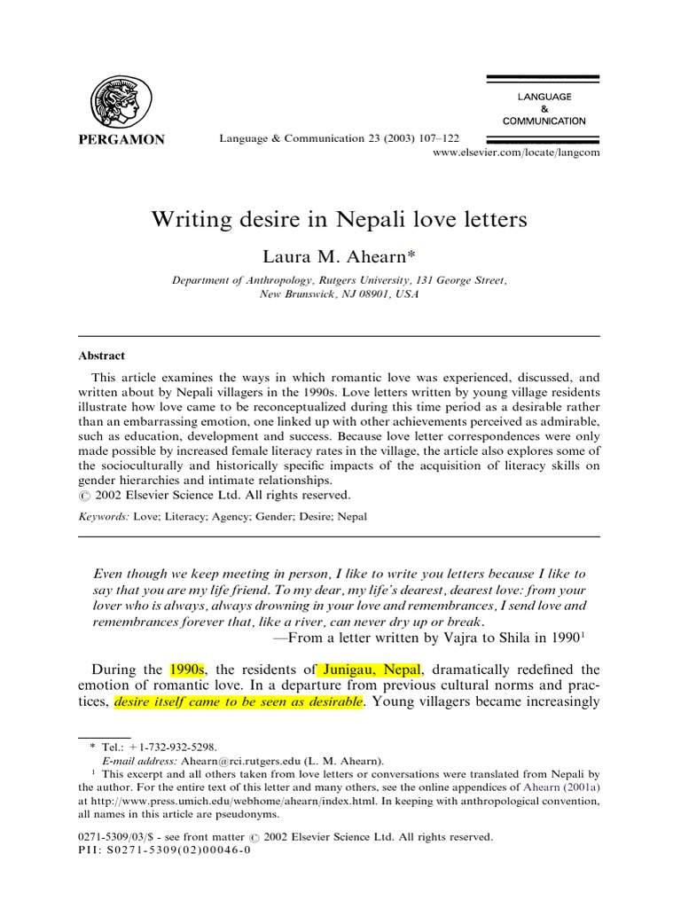 Writing desire in nepal love letters literacy romance love stopboris Choice Image