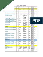 Jadwal Kuliah Sementara (Planning)