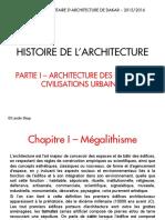 Cours 1- Histoire de l'Architecture