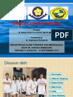 Tenggelam ( drowning) forensic presentation