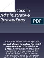 Due Process in Administrative Proceedings