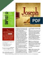 Joseph 9 Gen 39-11-23 Handout 011716